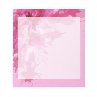 Acuarela en colores pastel abstracta rosada blocs de papel