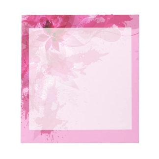 Acuarela en colores pastel abstracta rosada libretas para notas