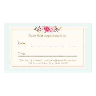 Acuarela en colores pastel elegante de la tarjeta tarjetas de visita