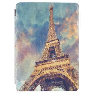 Acuarela en colores pastel linda de la torre cover de iPad air
