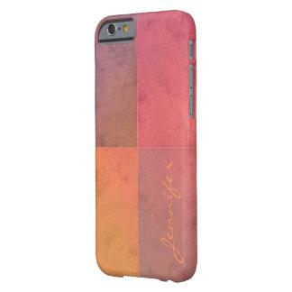 Acuarela en colores pastel rosada del rojo funda de iPhone 6 barely there