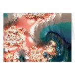 Acuarela en coral tarjetas