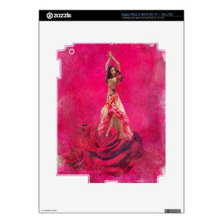 Acuarela española del rosa color de rosa del pegatinas skins para iPad 3