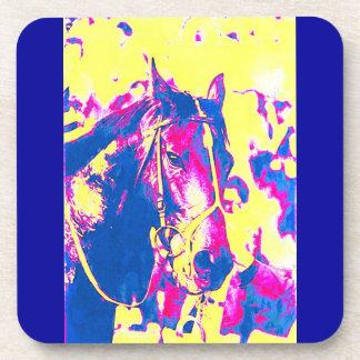 Acuarela excelente del caballo de carreras de la posavaso
