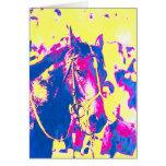 Acuarela excelente del caballo de carreras de la tarjeta de felicitación
