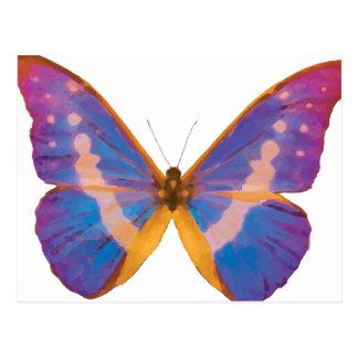 Acuarela exótica de la mariposa postales