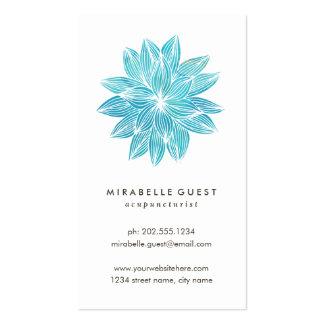 Acuarela floral azul de Lotus el | Tarjetas De Visita