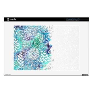 Acuarela floral de los azules - personalizar portátil skin