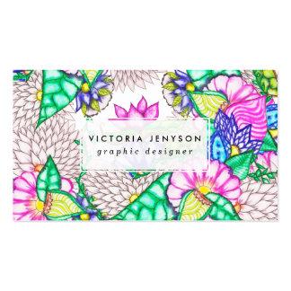 Acuarela floral de muy buen gusto botánica moderna tarjetas de visita