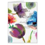 Acuarela floral del ~ de la cita de Claude Monet Tarjeta De Felicitación