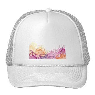 Acuarela floral en rosado, púrpura, y naranja gorro de camionero