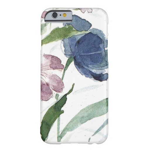 acuarela floral funda de iPhone 6 barely there