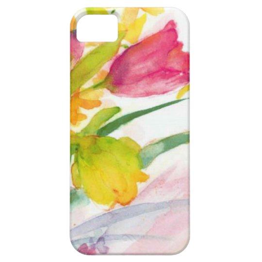 acuarela floral funda para iPhone SE/5/5s
