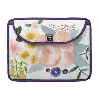 Acuarela floral fundas para macbook pro
