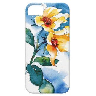 acuarela floral iPhone 5 carcasa