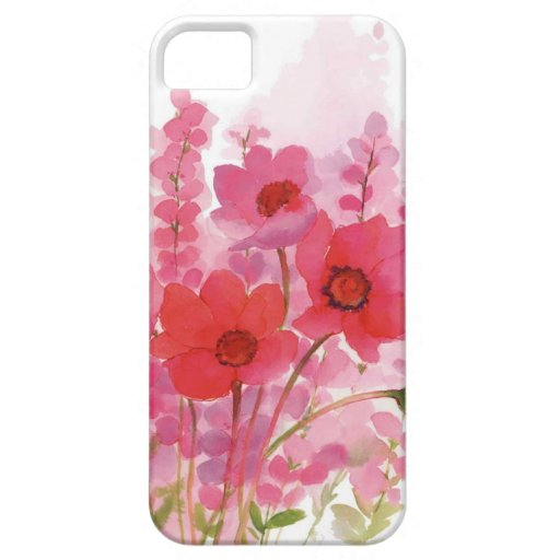 acuarela floral iPhone 5 cobertura