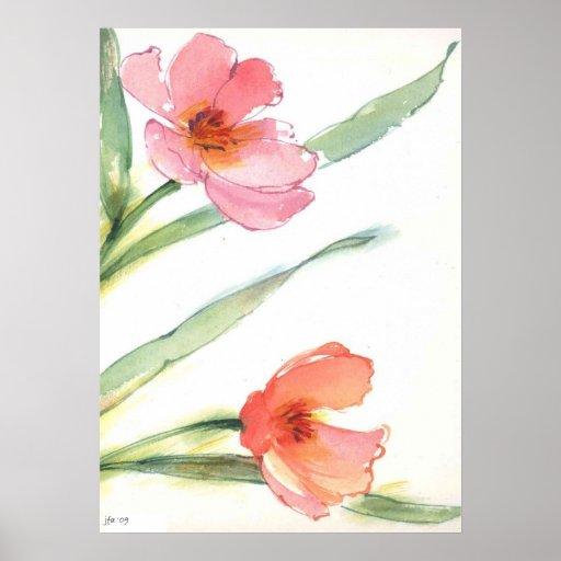 Acuarela floral póster