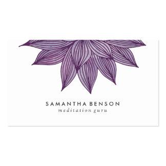 Acuarela floral púrpura de la flor de Lotus el | Tarjetas De Visita