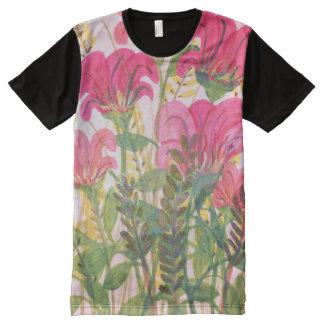 Acuarela floral rosada abstracta