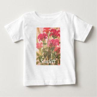 Acuarela floral rosada abstracta playera de bebé
