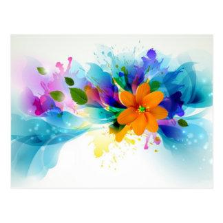 Acuarela floral tarjetas postales