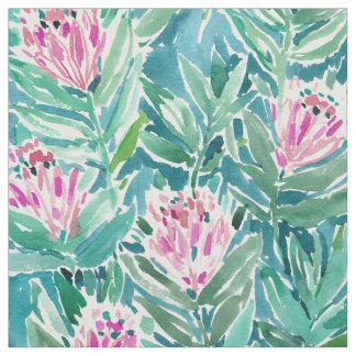 Acuarela floral tropical del PARAÍSO del PROTEA Telas