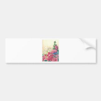 Acuarela floral y del colibrí exquisita, personali pegatina para auto