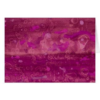 Acuarela fucsia rosada tarjeta pequeña