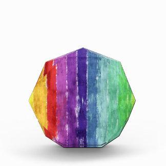 Acuarela geométrica de las rayas