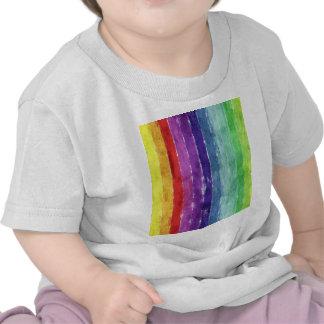 Acuarela geométrica de las rayas camiseta