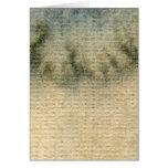 acuarela gris-azul 6 del fondo tarjeta de felicitación