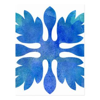 Acuarela hawaiana del azul de océano del edredón postal