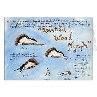 Acuarela hermosa de la polilla de la Madera-ninfa Felicitación