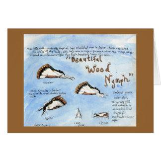Acuarela hermosa de la polilla de la Madera-ninfa Tarjeta De Felicitación