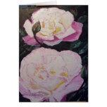 Acuarela inglesa de los rosas felicitaciones