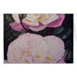 Acuarela inglesa de los rosas tarjetas