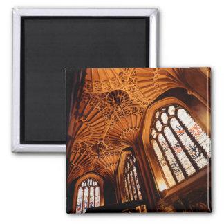 """Acuarela interior de la iglesia del """"bosque encant imán para frigorifico"""