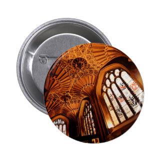 """Acuarela interior de la iglesia del """"bosque encant pin redondo 5 cm"""