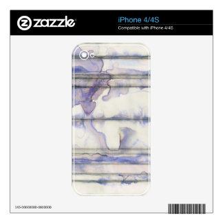 Acuarela libre de la expresión de la violeta iPhone 4 calcomanía