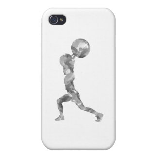 Acuarela limpia y tirón en gris iPhone 4/4S fundas