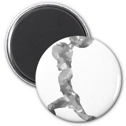 Acuarela limpia y tirón en gris imán redondo 5 cm