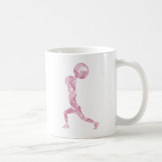 Acuarela limpia y tirón en rosa tazas