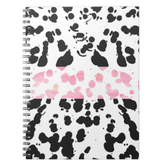 Acuarela moderna de moda y salpicadura negra de la libro de apuntes
