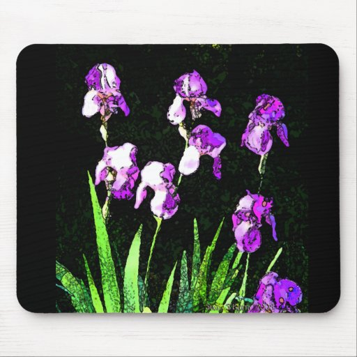 Acuarela Mousepad del iris Tapetes De Ratón
