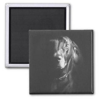 Acuarela negra del perro del laboratorio de Paul J Imán De Frigorífico