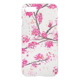Acuarela oriental de Sakura de las flores de Funda Para iPhone 7