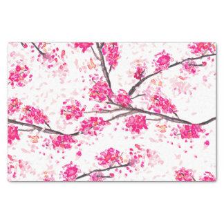 Acuarela oriental de Sakura de las flores de Papel De Seda Pequeño