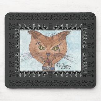 Acuarela original de Dracucat impresa en mousepad Alfombrillas De Ratón