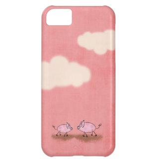 Acuarela Piggies rosado Funda Para iPhone 5C