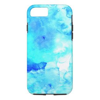 Acuarela pintada a mano del mar azul moderno del funda iPhone 7